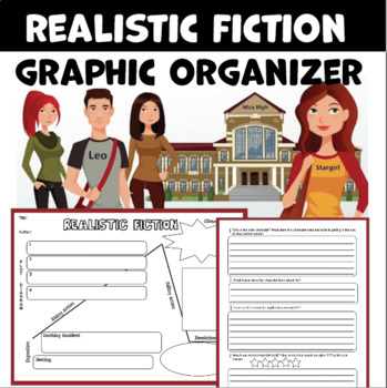 Realistic Fiction Graphic Organizer for Reading