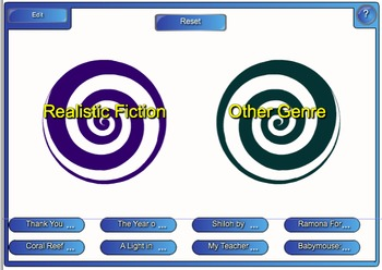Realistic Fiction & Other Genre Smart Board Vortex Game