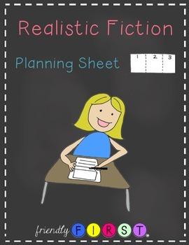 Realistic Fiction Writing Planning Sheet