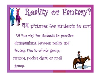 Reality Fantasy Picture Sort