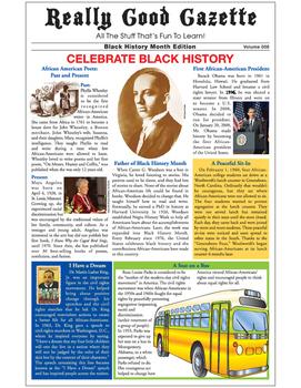 Really Good Gazette - Black History