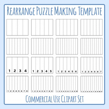 Rearrange Puzzle Generating Images / Layout / Template Cli