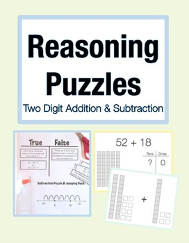 Reasoning Puzzles (2 Digit Addition/Subtraction): Math Tal