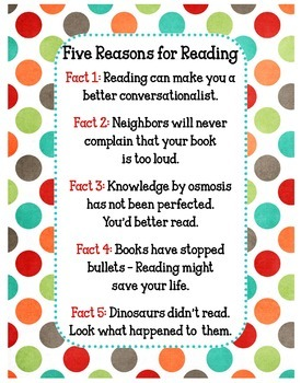Reasons to Read Poster