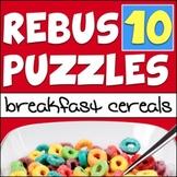 "Rebus ""Wuzzle"" Puzzle Worksheet 10 - BREAKFAST CEREALS"