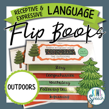 Receptive & Expressive Language Flip Books {OUTDOORS / CAMPING}