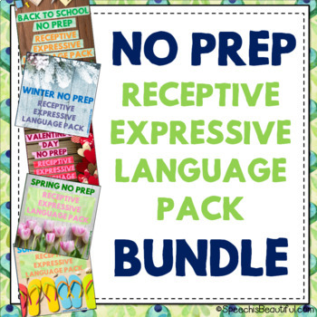NO PREP Receptive & Expressive Language Pack {SEASONAL FOR