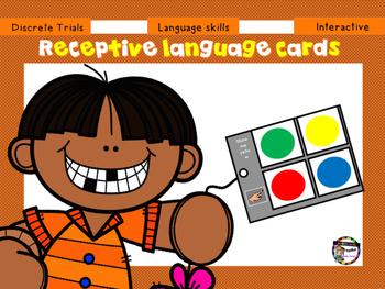 Receptive language cards (Colour) Autism/Special/Needs