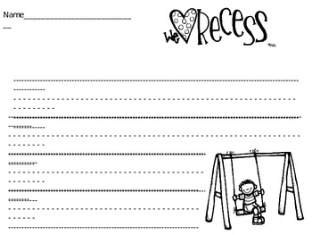 Recess Fun Writing Page