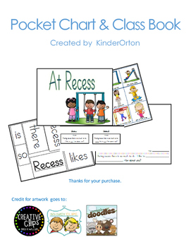 Recess Time - pocket chart and Class Book