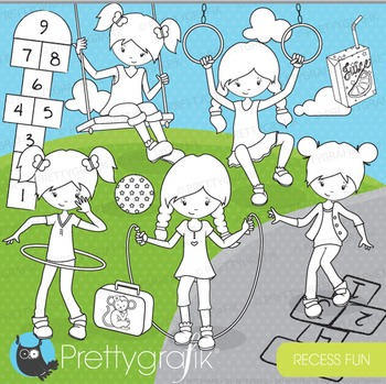 Recess school stamps commercial use, vector graphics, imag