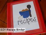 Recipe Binder Categories