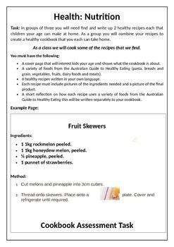 Recipe Book Task with Rubric