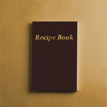 Recipe Book: an empty recipe book.  (FREE SHIPPING WITHIN U.S.)