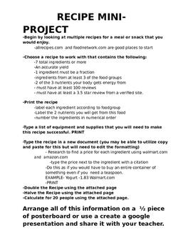 Recipe Mini-Project