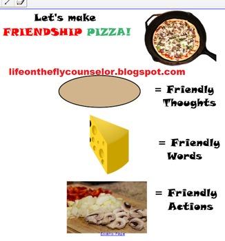 Recipe for Friendship/Friendship Pizza SMARTboard lesson