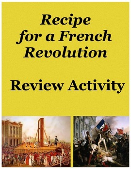Recipe for a French Revolution Review Activity