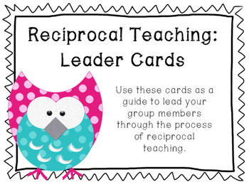 Reciprocal Teaching Leader Cards
