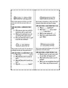 Reciprocal Teaching (Literature Circle) Role Bookmark