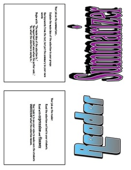 Reciprocal Teaching Roles Table Tents