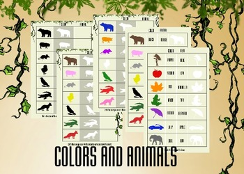 Recognize Color and Animals (+Print friendly versions)