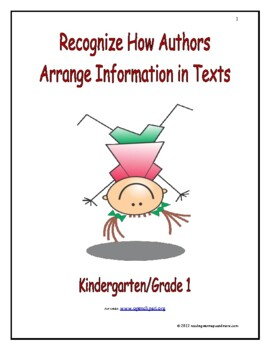 Recognize How Authors Arrange Information in Texts: Introd