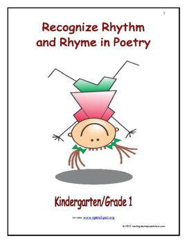 Recognize Rhythm and Rhyme in Poetry: Introduce/Practice/Assess