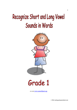 Recognize Short and Long Vowel Sounds in Words: Introduce/