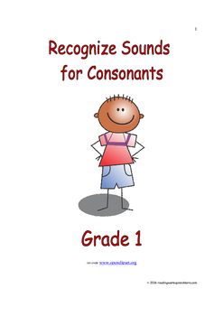 Recognize Sounds for Consonants: Introduce/Practice/Assess