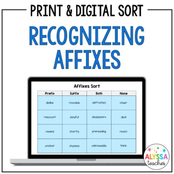 Recognizing Affixes Sort (Prefixes & Suffixes)