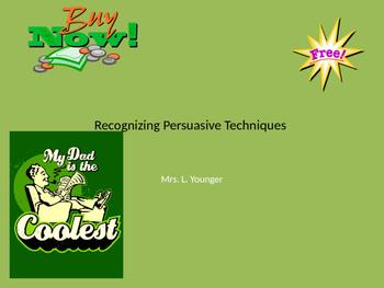 Recognizing Persuasive Technique PPT