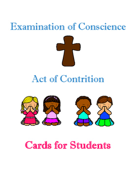 Reconciliation: Act of Contrition Cards