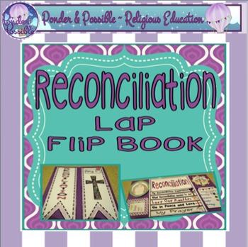 Reconciliation ~ Lap Flip Book, Religious, Sacrament of Fo