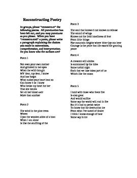 Reconstructing Poetry