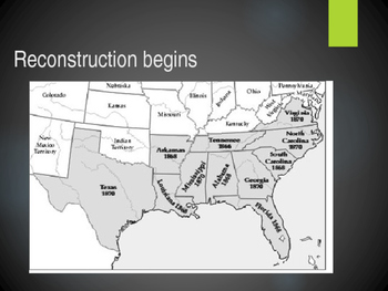 Reconstruction Begins PowerPoint