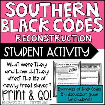 Reconstruction: Black Codes Activity