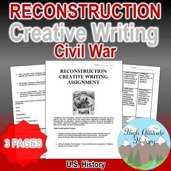 Reconstruction Creative Writing Assessment & Rubric (U.S.