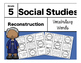 Reconstruction Interactive Notebook-Vocabulary Cards