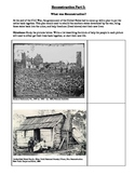 Reconstruction Part I - Primary Sources for rebuilding the