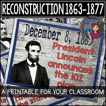 Reconstruction Timeline {A Printable for Your Classroom}
