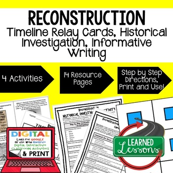 Reconstruction Timeline Relay and Writing Activity (Paper