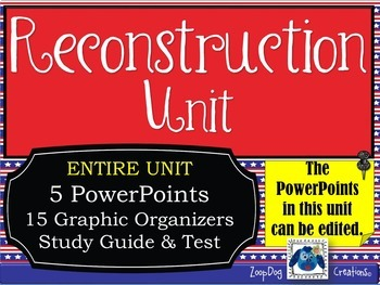 Reconstruction UNIT PowerPoints, Graphic Organizers, Study