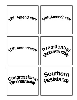 Reconstruction Vocabulary Memory Matching Game Cards