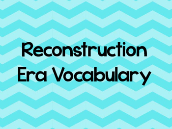 Reconstruction Word Wall Chevron