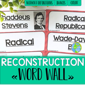 Reconstruction Word Wall without definitions