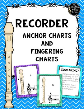 Recorder Fingering Anchor Charts Chevron