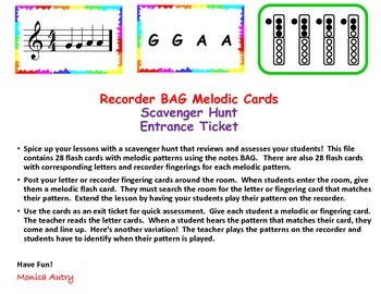 Recorder BAG Melodic Cards UPDATED