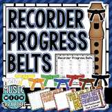 Recorder Belt Posters- Use Your Own Method or Recorder Karate