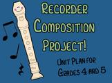 Recorder Composition Project (Unit Plan)