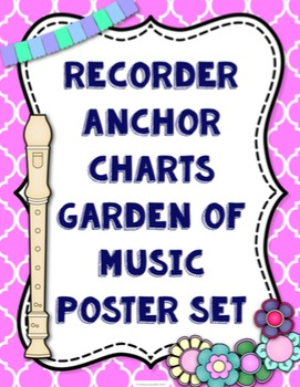 Recorder Fingering Anchor Charts {Garden of Music}